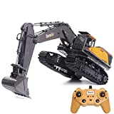 TongLi 592 1:14 Scale RC Excavator With Metal Bucket Toy for Adults Remote Control Digger Construction Trucks 2.4Ghz Powerful Upgraded V4 with New Motherboard