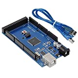 Robocraze Mega 2560 Board compatible with Arduini | Development Board with USB cable (Pack of 1)