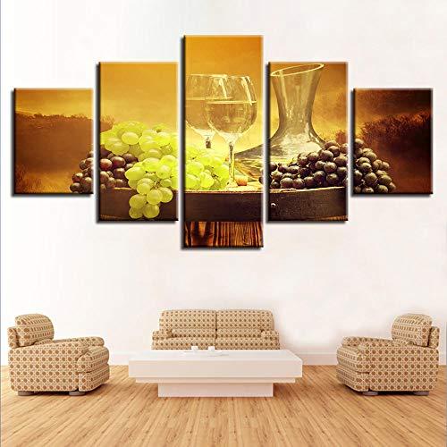 Chuixiaoxiao1 Pintura en Lienzo de 5 Piezas de Panel Impresiones HD Vino Cartel Moderno Arte Pared decoración del hogar para la decoración del Fondo del Dormitorio de la Sala de Estar
