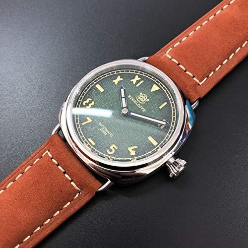 MKOIJN Horloges 41Mm Nh35 Herenhorloge Automatische Duiker 200M Roestvrijstalen Duiker Mechanisch Horloge Heren Saffier Mechanische Horloges Duiken