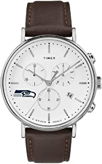 Timex Mens Seattle Seahawks Watch Chronograph Leather Band Watch