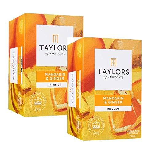 Taylors de Harrogate Infusión sin café de mandarina y jengibre - 2 x 20 bolsitas de té (100 gramos)