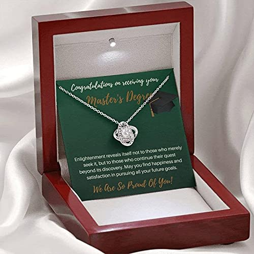 Graduation Gifts For Her Necklace-Sterling Silver Necklace Graduation Jewelry Presents Celtic Knot Love Necklace Graduation 2021 Grad Card Box-College Graduation Gifts For Girls Master'S Degree