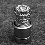 VCB Prise de Courant pour Prise de Courant de Voiture pour Allume-Cigare en métal plaqué Diamant - Argent