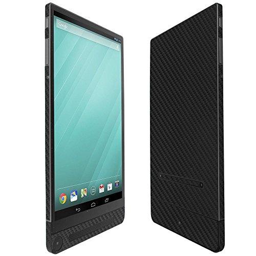 Skinomi Black Carbon Fiber Full Body Skin Compatible with Dell Venue 8 (7000, 7840)(Full Coverage) TechSkin with Anti-Bubble Clear Film Screen Protector