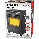 BARGAINSGALORE NEW 4.2KW CALOR GAS PORTABLE CABINET HEATER FIRE HEATING WINTER REGULATOR HOSE