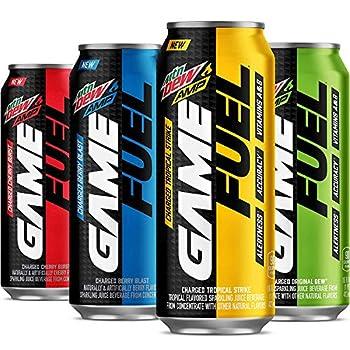 MTN DEW AMP GAME FUEL 4 Flavor Variety Pack 16fl.oz  Pack of 4