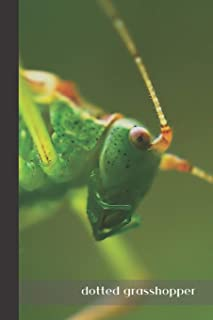 Dotted Grasshopper: small lined Grasshopper Notebook / Travel Journal to write in (6'' x 9'') 120 pages