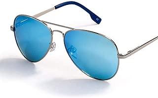 Fashion Polarized Classic Metal Pilot Glasses for Women Lens Fashion Style UV400 Men's Sunglasses Retro (Color : Blue)