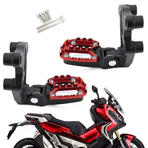 Artudatech Reposapiés plegable para motocicleta, 1 par de estriberas para pie para...