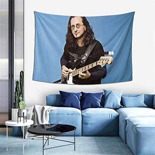 Tapiz Geddy Lee para sala de estar, dormitorio, dormitorio, decoración para colgar en la pared, tapices de 60 x 40 pulgadas