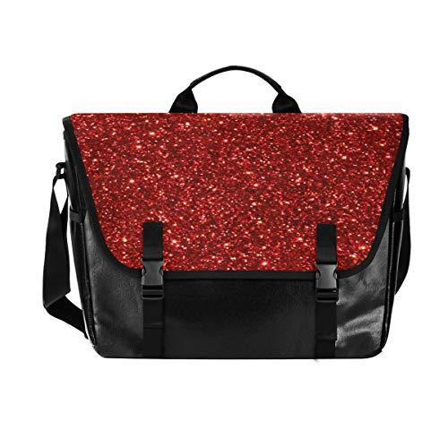 Umhängetasche für Damen und Herren, mit roten leuchtenden Sternen, für iPad,...