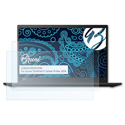Bruni Schutzfolie kompatibel mit Lenovo ThinkPad X1 Carbon 7h Gen. 2019 Folie, glasklare Bildschirmschutzfolie (2X)