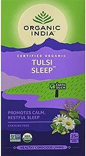 Organic India - Tulsi Sleep - Loose Tea Bags, USDA Certified Organic, Caffeine Free - 25 Tea Bags / Pack of 3