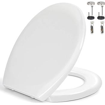 Toilettendeckel WC Sitz Klodeckel mit ABSENKAUTOMATIK Toilettenbrille Weiß