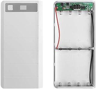 siwetg Typ-C-ingång, 2 USB-ingångar, 8 x 18650 batteri, gör-det-själv, fäste, LED-skärm, powerbank, hölje