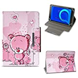 NAUC Tablet Tasche für Alcatel 1T 10 Hülle Schutzhülle Hülle Schutz Cover 10.1 Zoll, Farben:Motiv 1