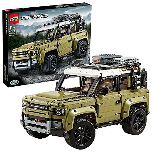 LEGO 42110 Technic LandRoverDefender, Maquette Voiture à Construire, Modèle à Collectionner Exclusif, Ensemble de Construction avancé