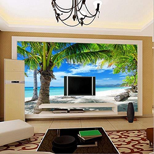 Wandtapete 3d Strand Coconut Grove Wandbild| Tapete | Wandbild | Wandbild | Bild | Fototapeten | Tapeten | Wandtapete | Wanddeko | Wandtapete | Abstrakt 3d-350cm×245cm