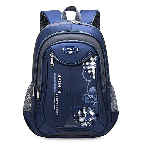 CLOUD Student Schoolbag New Large-capacity Travel Backpack For Boys And Girls Children's Laptop Rucksack blue-Large 34 x 18 x 46 cm