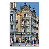 Premium Textil-Leinwand 60 x 90 cm Hoch-Format Grand Hotel