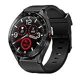 Smartwatch Uomo Orologio Fitness Tracker Cardiofrequenzimetro IP68 Impermeabil Activity Tracker Notifiche Messaggi Contatore di calorie Pressione Sanguigna Contapassi per Android iOS