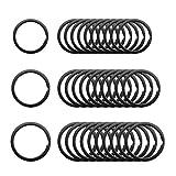 Yangfei 45pcs Anillas para Llaveros Anilla Llavero Negro Llavero Dividido Organización de Llaves para Conectar Etiquetas, Llaves, Joyas y Colgantes Pequeños (2.5cm、3.2cm、3.5cm)