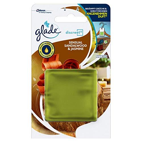 Glade By Brise Original Nachfüller für Discreet Duftprodukte, Für langanhaltende Frische in allen Räumen,6 x 8 g, Frischer Bali Sandelholz & Jasmin-Duft
