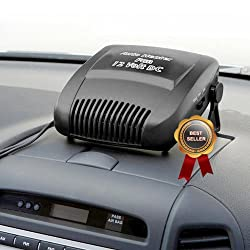 MediSonic High Powered Portable 12 Volt In Car Dash Mount Heater and Windshield Defroster Winter Special 2 Pack Savings Deal