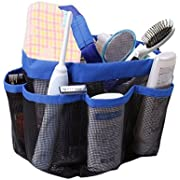 Mayin Quick Dry Hanging Toiletry and Bath Organizer with 8 Storage Compartments, Shower Tote, Mesh Shower Caddy, Perfect Dorm, Gym, Camp & Travel Tote Bag, Pink