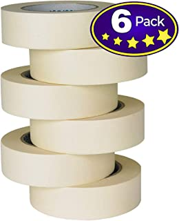 TIANBO FIRST Masking Tape 6 Rolls, 1.41 Inch x 60 Yards, Ideal for Office, Labeling, Arts & Crafts