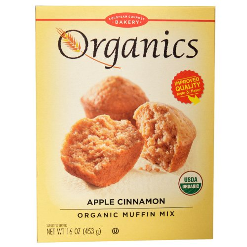 European Gourmet Bakery, Mix Muffin Apple Cinnamon Organic, 16 Ounce