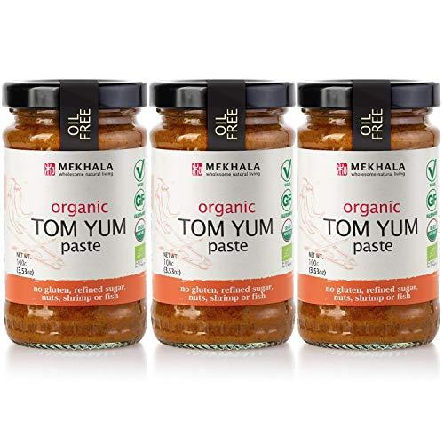 Mekhala Organic Gluten Free Asian Cooking Paste Value 3-Pack (3x3.5oz) (Tom Yum)
