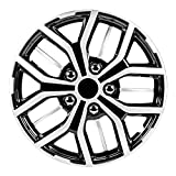 Pilot Automotive WH142-17S-B 17 Inch Super Sport Black and Silver Universal Hubcap Wheel Covers for Cars | Set of 4 | Fits Toyota Volkswagen VW Chevy Chevrolet Honda Mazda Dodge Ford and Others