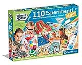 Clementoni Juego Lab-110 experimentos & Go Química, Kit de experimentos Ciencia, Laboratorio científico 8 años, Manual en Italiano, Multicolor, 19255