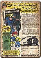 American Combat Judo Book Comic ティンサイン ポスター ン サイン プレート ブリキ看板 ホーム バーために