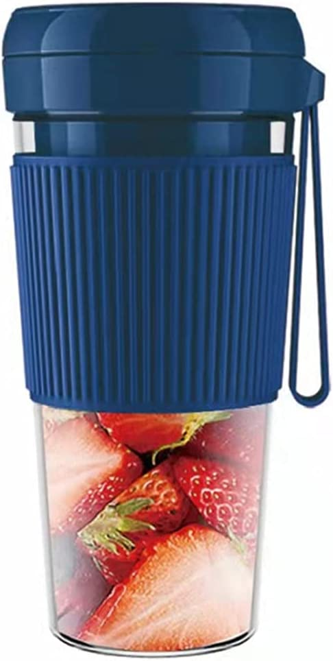 Portable Cordless Blender for Shakes and Smoothies Detachable Personal Size Juicer Cup with USB Rechargeable Four Blades Fruit Mixing Machine10oz Travel Mini Mixer Handheld Blender for Sport Gym Blue