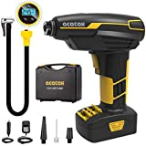 acetek Tire Inflator Cordless Air Compressor,Car Air Pump Tire Inflator Rechargeable, DC 12V Portable Handheld Electric Power Air Pump for Car Tires with LCD Digital Pressure Gauge