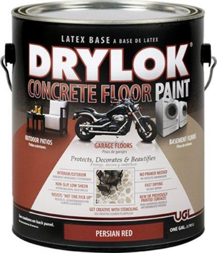 Ugl 21513 1 Gallon Persian Red Drylok Latex Concrete Floor Paint