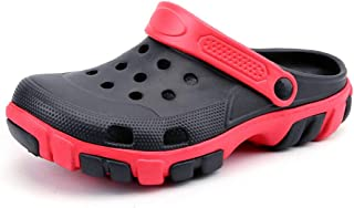 FDSVCSXV Mens Garden Clogs Mules, Lightweight for Men Summer Slippers Sandals Adjustable Non-Slip Water Shoes,Black,40