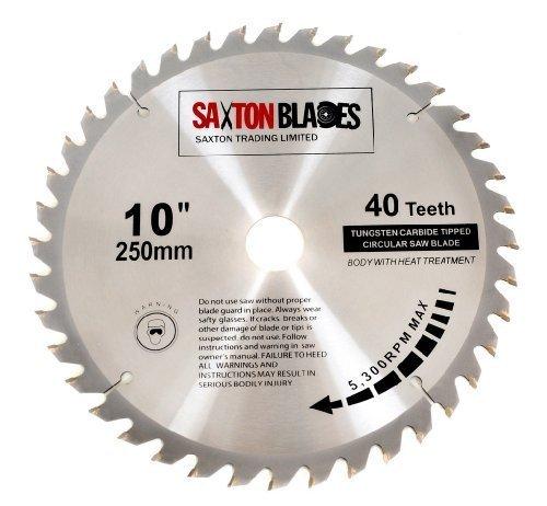 Saxton TCT Circular Wood Saw Blade 250mm x 30mm x 40T for Bosch, Makita etc