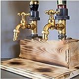 YFANHAN Dispensador De Whisky Faucet Forma Whisky Bebida Dispensador De Botellas Whisky Decanter Set para El Dispensador De Cocina Inicio,Double Head