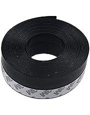 VIDEN 5 Meters Door Draft Stopper Sweep, Silicone Door Seal Strip, Under Door Noise Blocker,Weather Stripping, with 3M Adhesive Backing, Black 35mm
