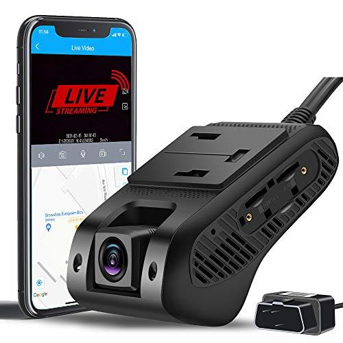 4G & WiFi Dual Dashcam Vorne und Innen Autokamera mit 1080P FHD Dashcam mit Live Video| GPS Tracking| G-Sensor Parküberwachung | Loop-Aufnahme | Nachtsicht | SOS-Notruffunktion | Verhaltensanalyse