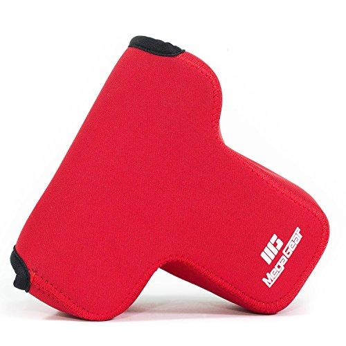 MegaGear MG869 Ultraleichte Kameratasche aus Neopren für Fujifilm X-T3, X-T2 (XF23mm - XF56mm & 18-55mm Lens) - Rot