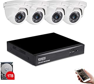 Tonton 8CH Full HD 1080P Expandable Security Camera System, 5-in-1 Surveillance