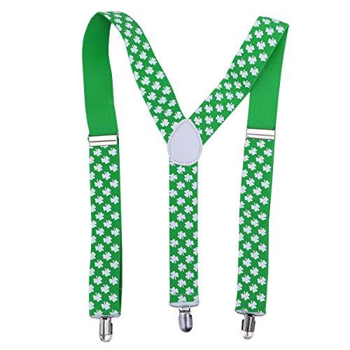 BESTOYARD BESTOYARD St. Patrick's Day Hosenträger Shamrock Clover Kostüm Zubehör für Parade Performance
