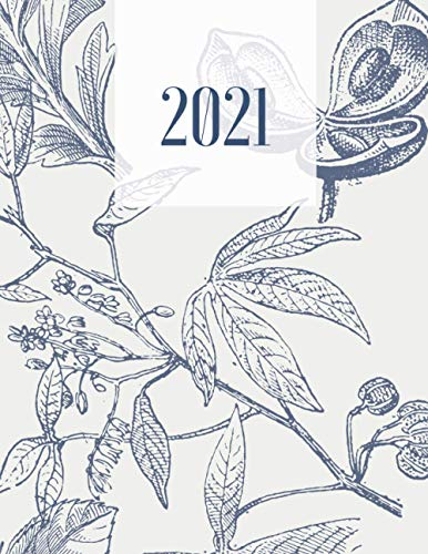 2021 Planner Weekly and Monthly: Large size 12-Month Calendar and Planner for Women. Perfect for business and personal planning, The right size for your Office or Home Desk! Vintage Style Cover