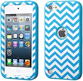 Wydan Compatible Case for iPod Touch 6th, 5th Generation - VERGE TUFF Hybrid Hard Shockproof Case Protective Cover - Blue Chevron for Apple