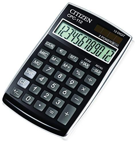 Citizen CPC112BKWB Taschenrechner, schwarz